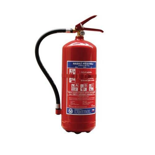 Práškový hasicí přístroj, 6 kg (43A, 233B, C), CZ etiketa
