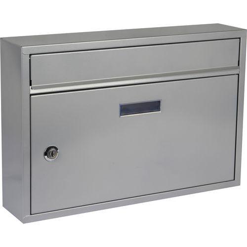Kovová poštovní schránka Cerusit, stříbrná