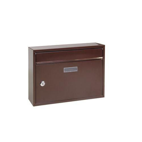 Kovová poštovní schránka Cerusit, hnědá