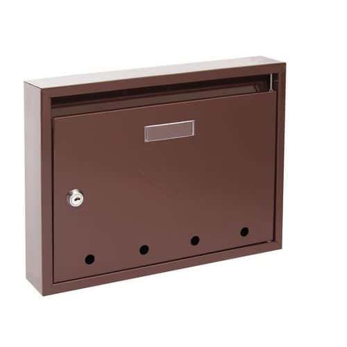 Kovová poštovní schránka Epidot, hnědá