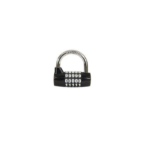Kódový visací zámek, zinek, černý, průměr třmene 7 mm, výška 32