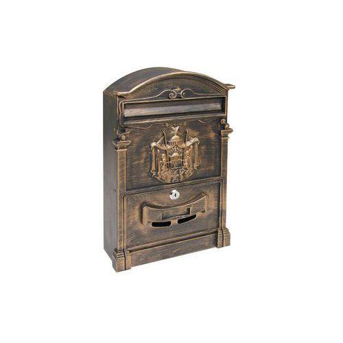 Kovová poštovní schránka Kuprit, zlatá
