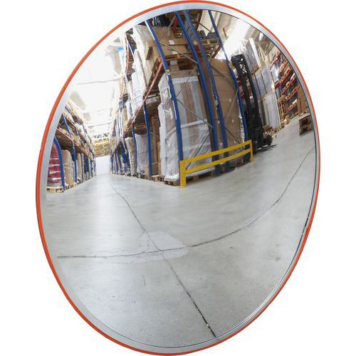 Průmyslové kulaté zrcadlo Manutan, 800 mm