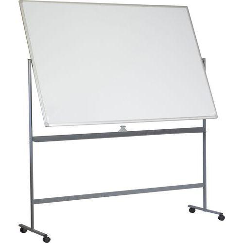 Mobilní bílá magnetická tabule Basic, oboustranná, 120 x 180 cm