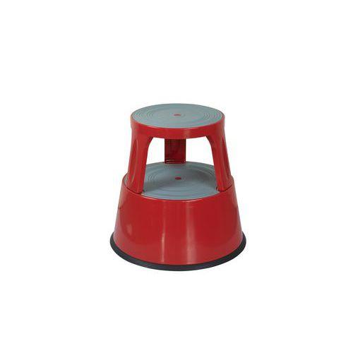 Pojízdné kovové stupátko, červené