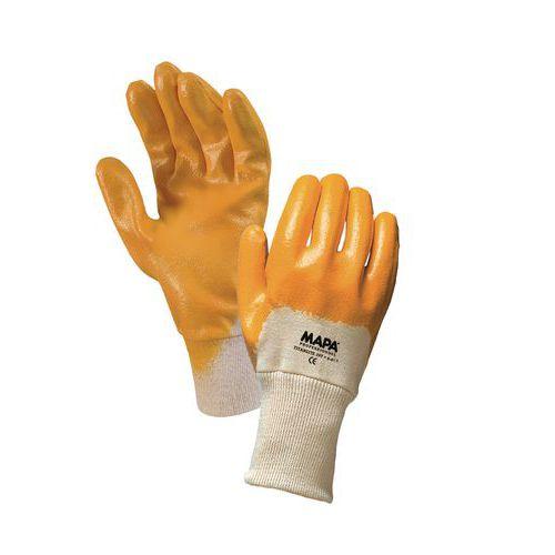 Bavlněné rukavice polomáčené v nitrilu, vel. 8