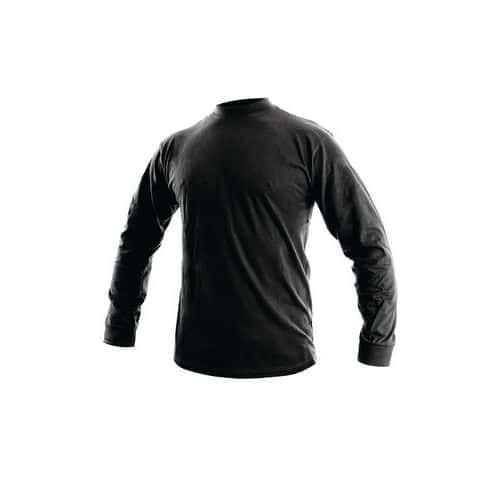 Pánské tričko s dlouhým rukávem, černé
