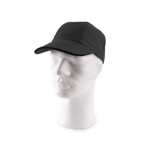 Kšiltová čepice s kovovým zapínáním, černá
