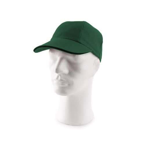 Kšiltová čepice s kovovým zapínáním, zelená