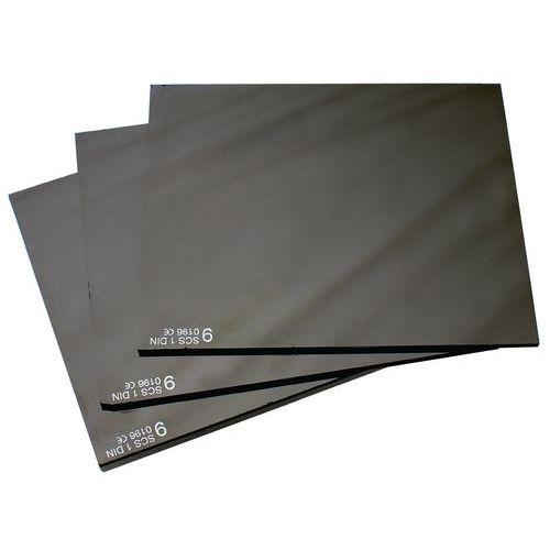 Tmavá skla do svářečské kukly, 90 x 110 mm