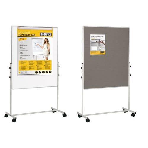 Mobilní plstěná a magnetická tabule Bi-Office, oboustranná