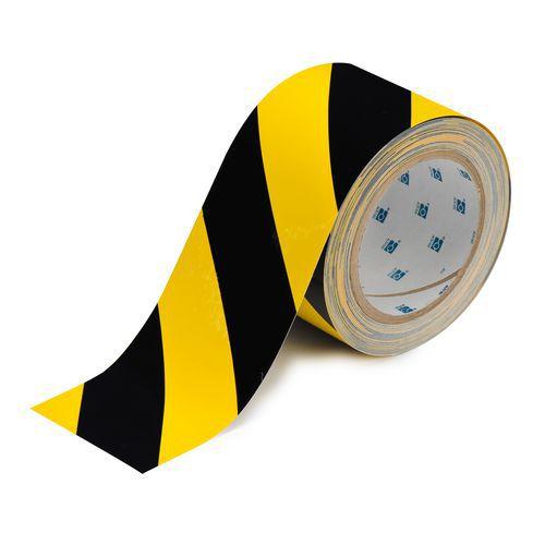 Odolná podlahová páska, černá/žlutá