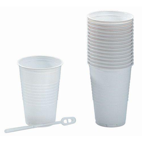Plastové bílé pohárky