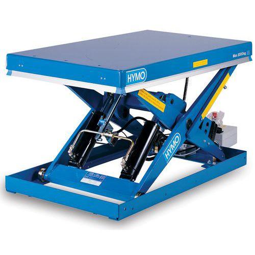 Hydraulický zvedací stůl, do 2 000 kg, deska 135 x 80 cm, 230 -