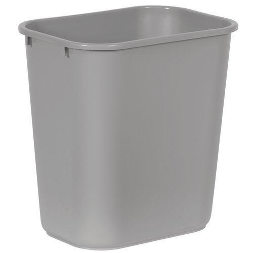 Plastový odpadkový koš Rubbermaid Soft, šedý, objem 27 l