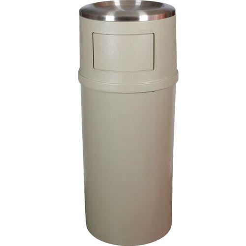 Plastový venkovní samozhášecí odpadkový koš Rubbermaid Ash/Trash s popelníkem, objem 94,6 l - Prodloužená záruka na 10 let