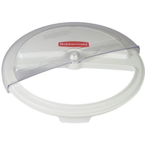 Víko pro plastové kontejnery, otevíratelný průhled, průměr 43 cm