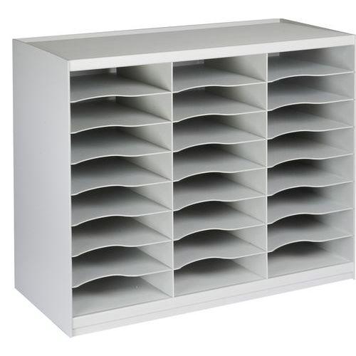 Přihrádkový modul, 24 přihrádek, šedý