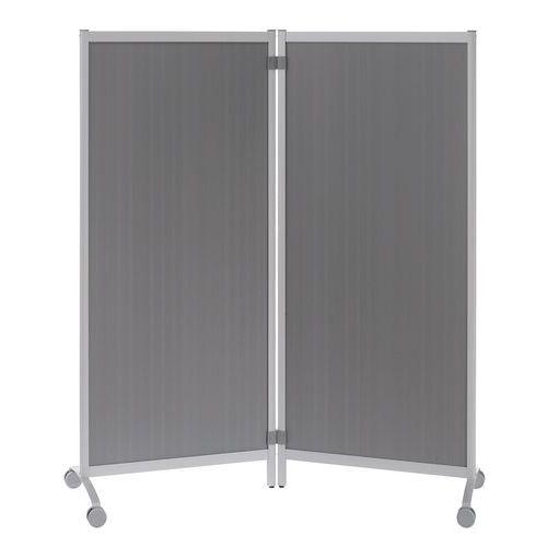 Mobilní dělicí stěny, 170 x 76 x 44 cm, šedá výplň