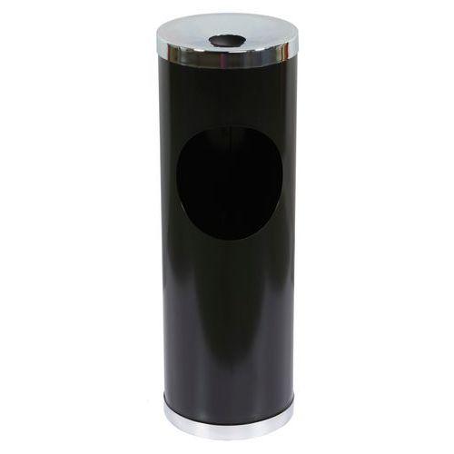Kovový odpadkový koš s popelníkem, objem 12 l