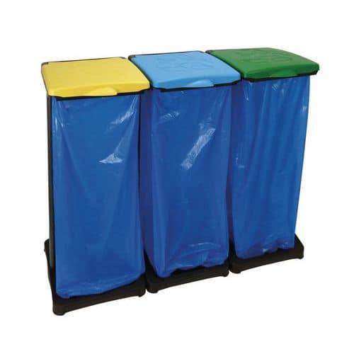 Stojan na odpadkové pytle<br>s víkem