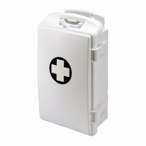 Plastová přenosná nástěnná lékárnička, uzamykatelná, 43 x 28 x 1