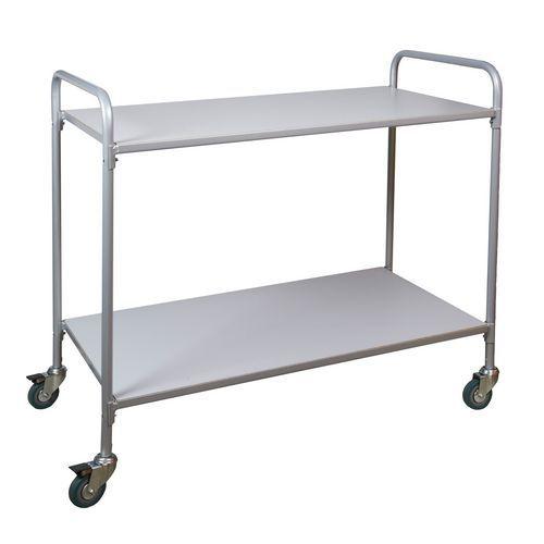 Kancelářský policový vozík, do 150 kg, 2 police