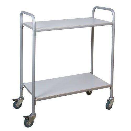 Kancelářský policový vozík, do 100 kg, 2 police