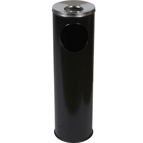 Kovové odpadkové koše Pillar s popelníkem, objem 15 l, Materiál: