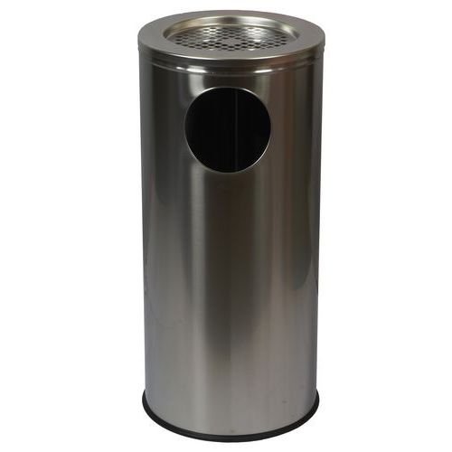 Kovové venkovní odpadkové koše Marco s popelníkem, objem 34 l, M