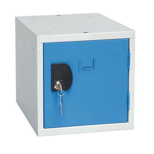 Svařovaný šatní box Manutan John, šedý/modrý
