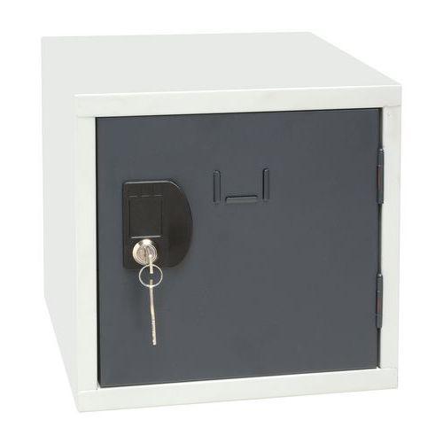 Svařovaný šatní box Manutan John, šedý/antracit
