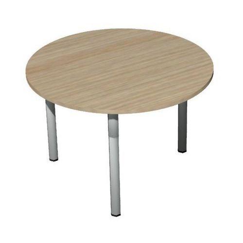 Kruhový konferenční stůl Set 110 x 75 cm, dezén světlé dřevo - Prodloužená záruka na 10 let