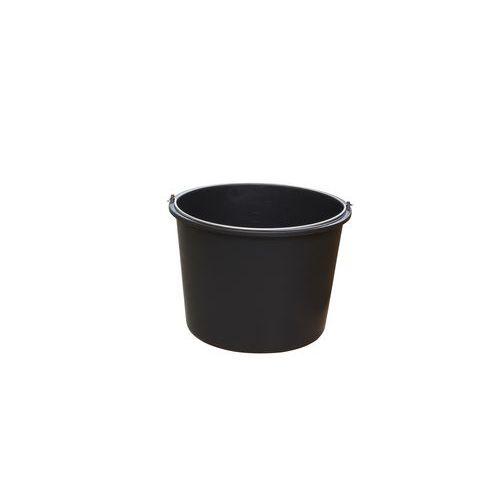Stavební vědro s uchem, 12 l, černé