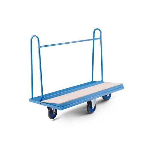 Vozík na rozměrné tabule Manutan, do 500 kg