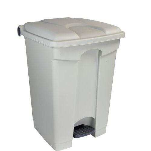Plastový odpadkový koš Manutan, objem 45 l, šedý