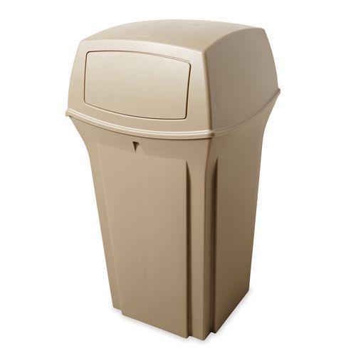 Plastový venkovní odpadkový koš Rubbermaid Otmar, 132 l - Prodloužená záruka na 10 let