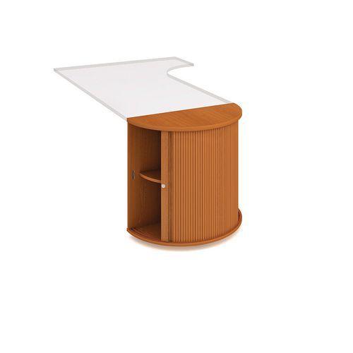 Přístavbová nízká skříň, 75,5 x 40 x 80 cm, půlkruhová s roletou