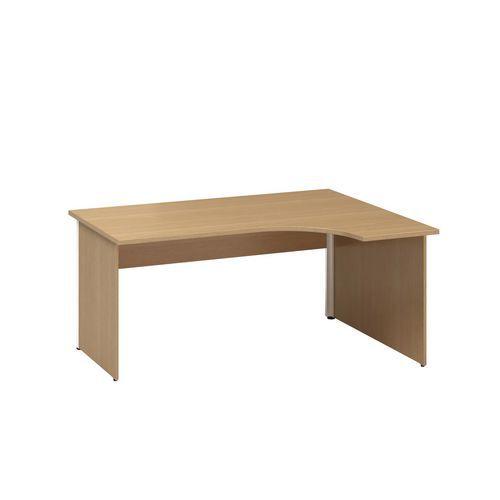 Alfa Office Ergo kancelářský stůl Alfa 100, 180 x 120 x 73,5 cm, pravé provedení, dezén buk Bavaria - Prodloužená záruka na 10 let