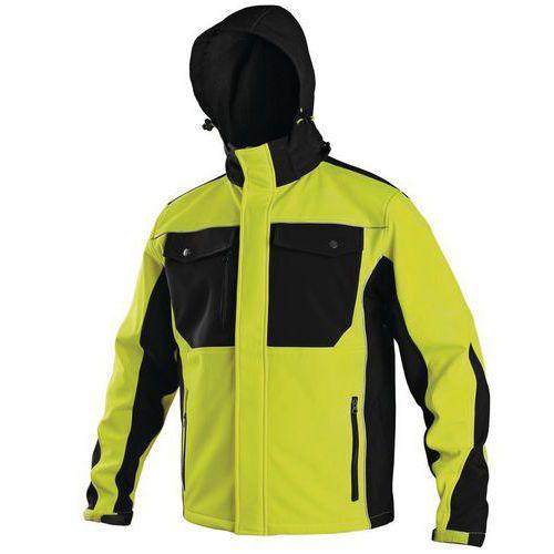 Canis Pánská softshellová bunda, žluto-černá, vel. S
