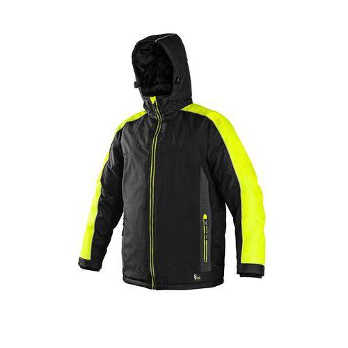 Pánská zimní bunda CXS s reflexními prvky, černá/žlutá