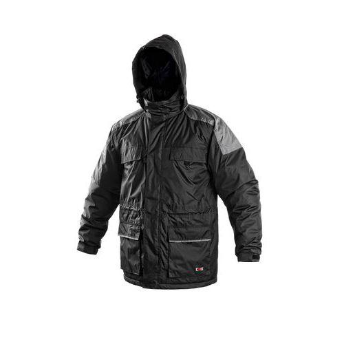 Pánská zimní bunda CXS, černá/šedá, vel. XXXL