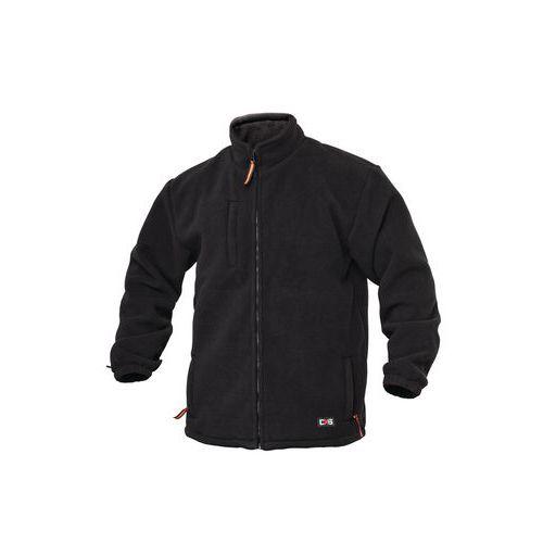 Pánská fleecová mikina na zip, černá