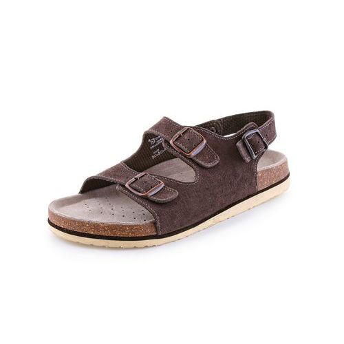 Zdravotní kožené sandály CXS Dr. Cork, hnědé