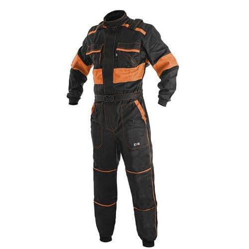 Pánská pracovní kombinéza CXS, černá/oranžová