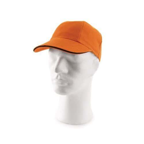 Kšiltová čepice s kovovým zapínáním, oranžová