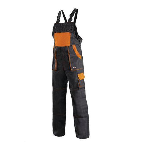 Pánské montérkové kalhoty CXS s laclem, černé/oranžové