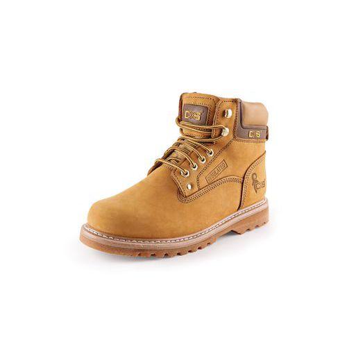 Pracovní kožené kotníkové boty CXS Road, světle hnědé