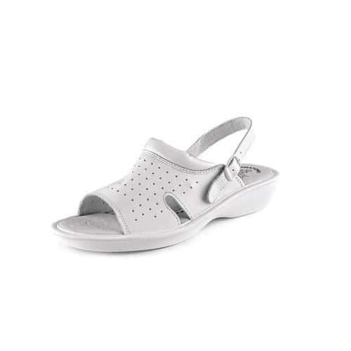 Zdravotnické kožené sandály CXS Lime, dámské, bílé