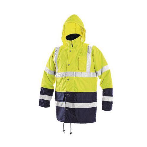 Pánská zimní nepromokavá reflexní bunda CXS, žlutá/modrá